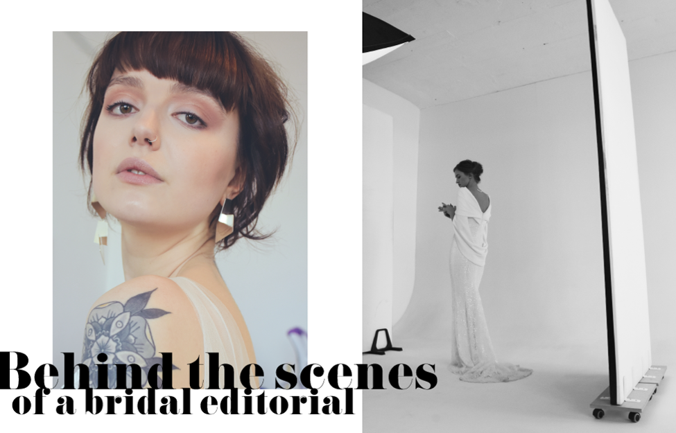 Behind the scenes of a bridal editorial